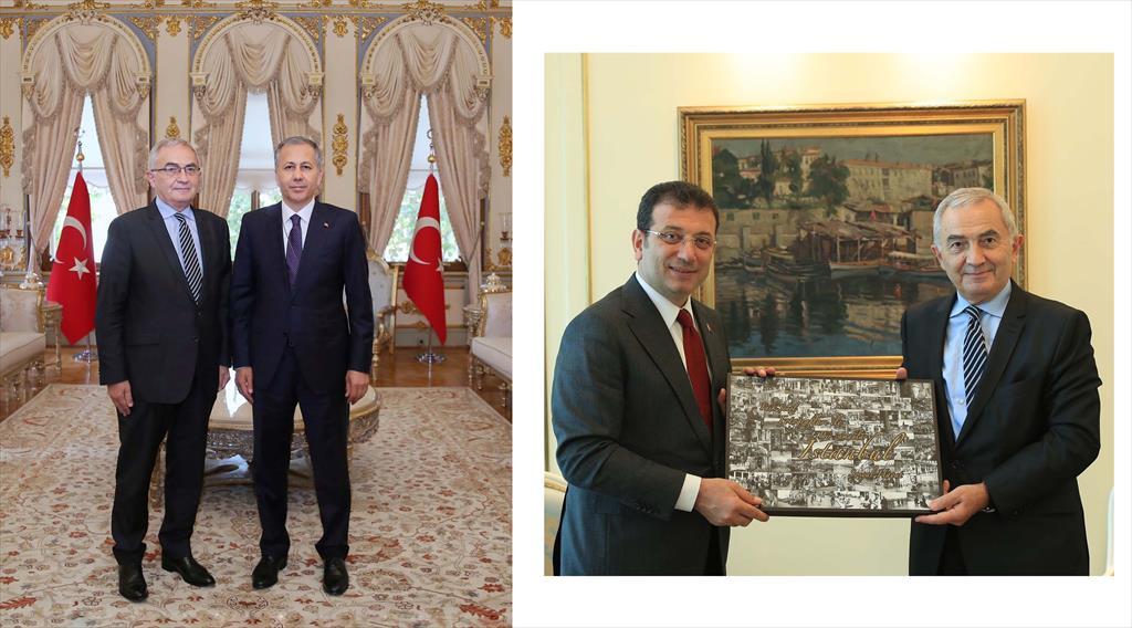 Courtesy visit of Amb. COMANESCU to the Istanbul Governor Mr. YERLIKAYA  and to the Mayor Mr. IMAMOGLU